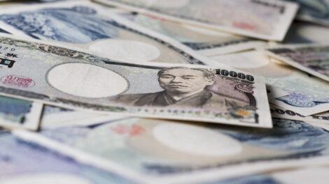 Japanese yen bills.