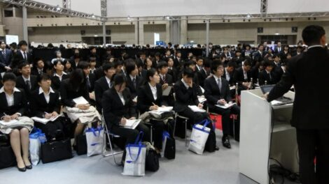 Businessmen and businesswomen in Japan